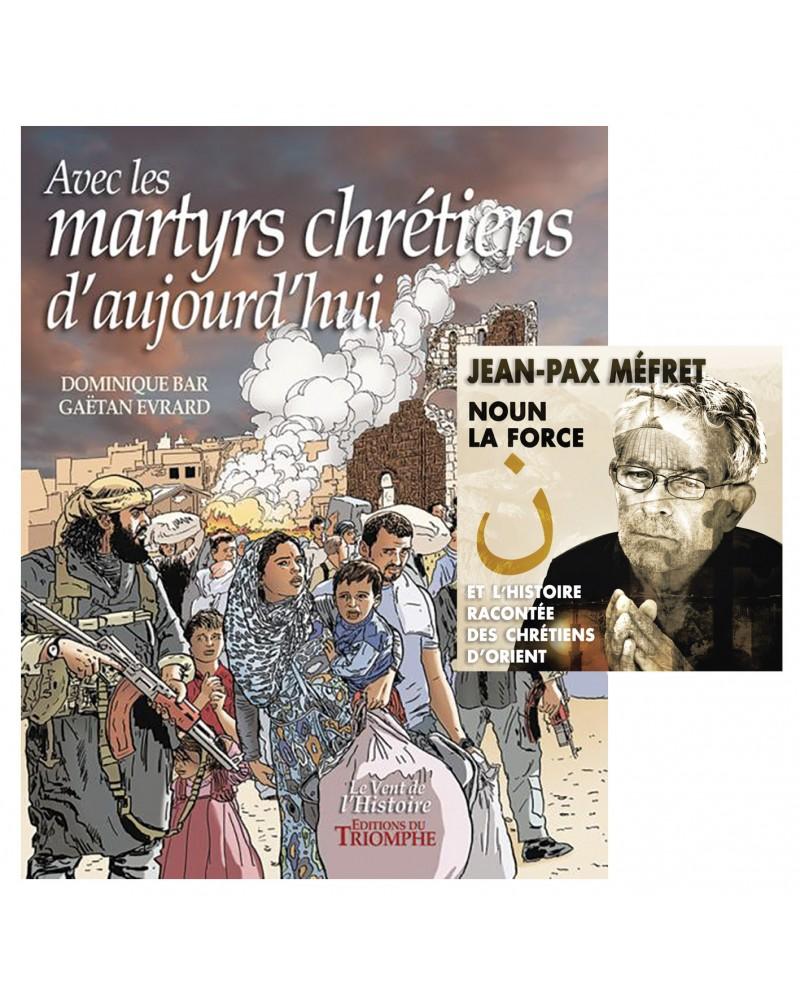 BD Avec les martyrs chrétiens d'aujourd'hui + CD Noun, l'histoire des Chétiens d'Orient par Jean-Pax Méfret