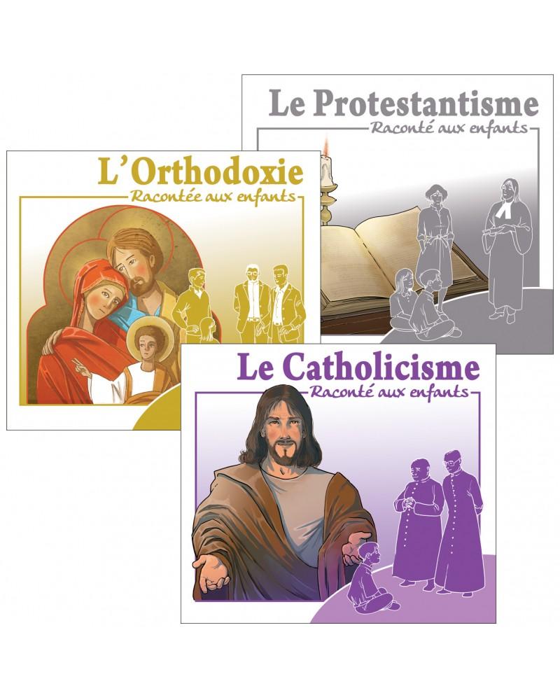 3 CD sur les religions chrétiennes