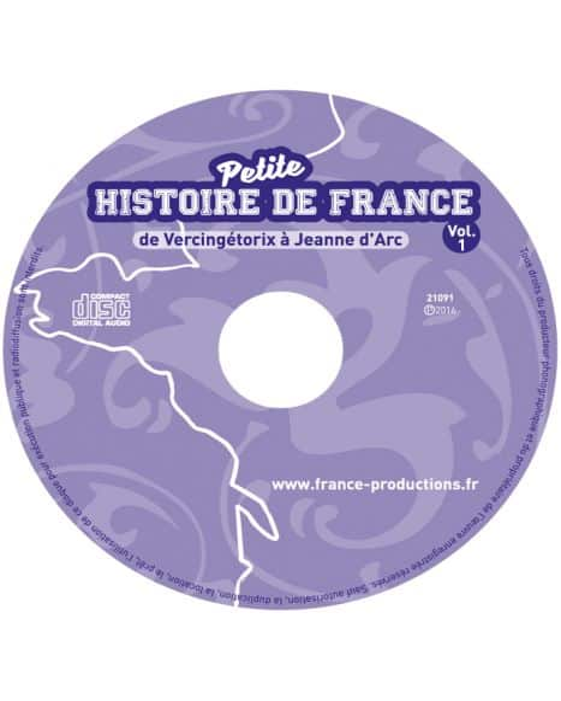 CD Petite histoire de France vol 1 (de Vercingétorix à Jeanne d'Arc)