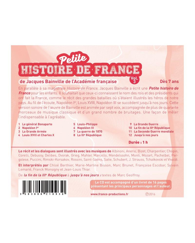 CD Petite histoire de France vol 3 (de Napoléon Ier à nos jours)