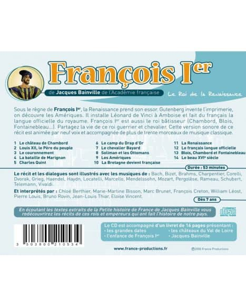 CD François Ier le roi de la Renaissance