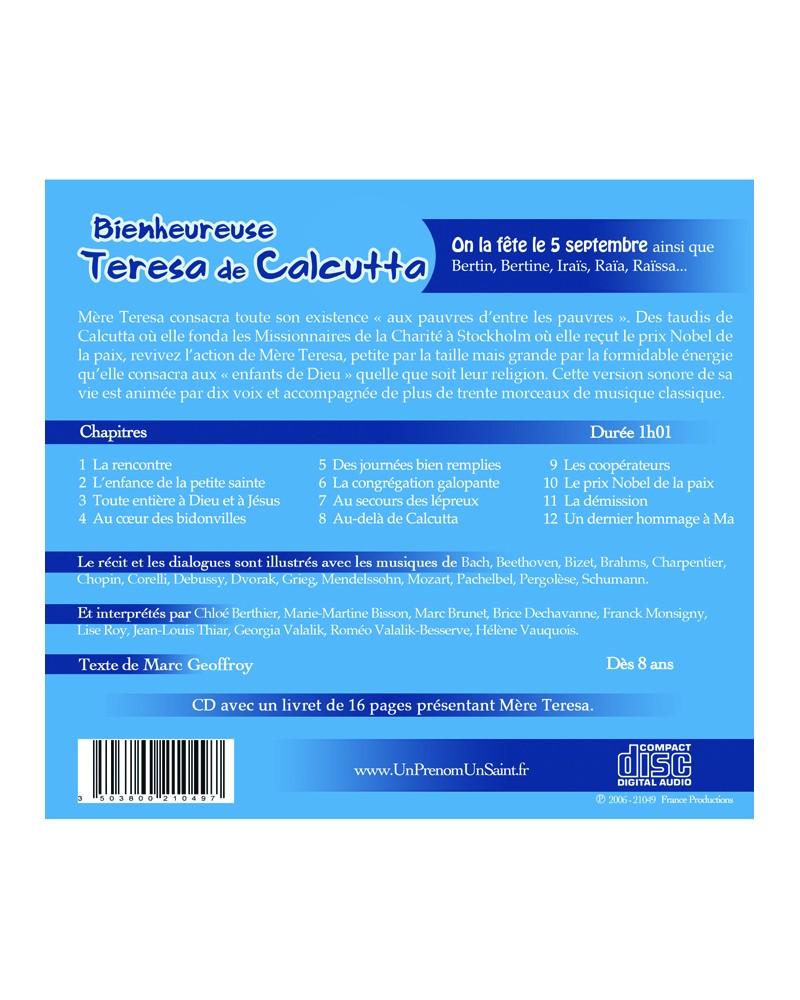 CD Bienheureuse Teresa de Calcutta (Mere Teresa)