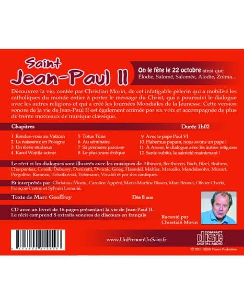 CD Saint Jean-Paul II raconté par Christian Morin