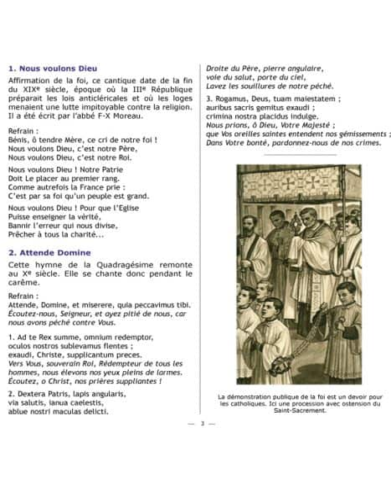 CD Cantiques catholiques de toujours VOL 2