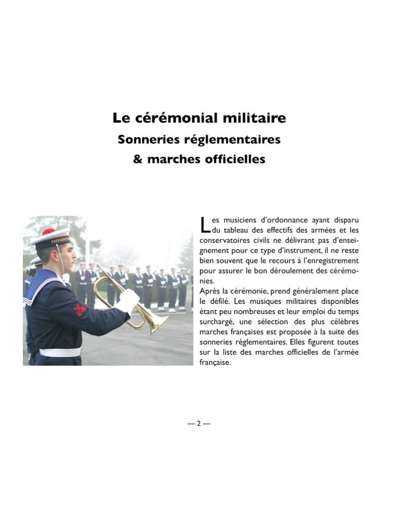 CD Cérémonial militaire, sonneries réglementaires et marches officielles