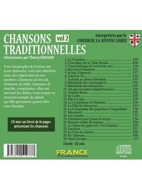 CD Chansons traditionnelles volume 2