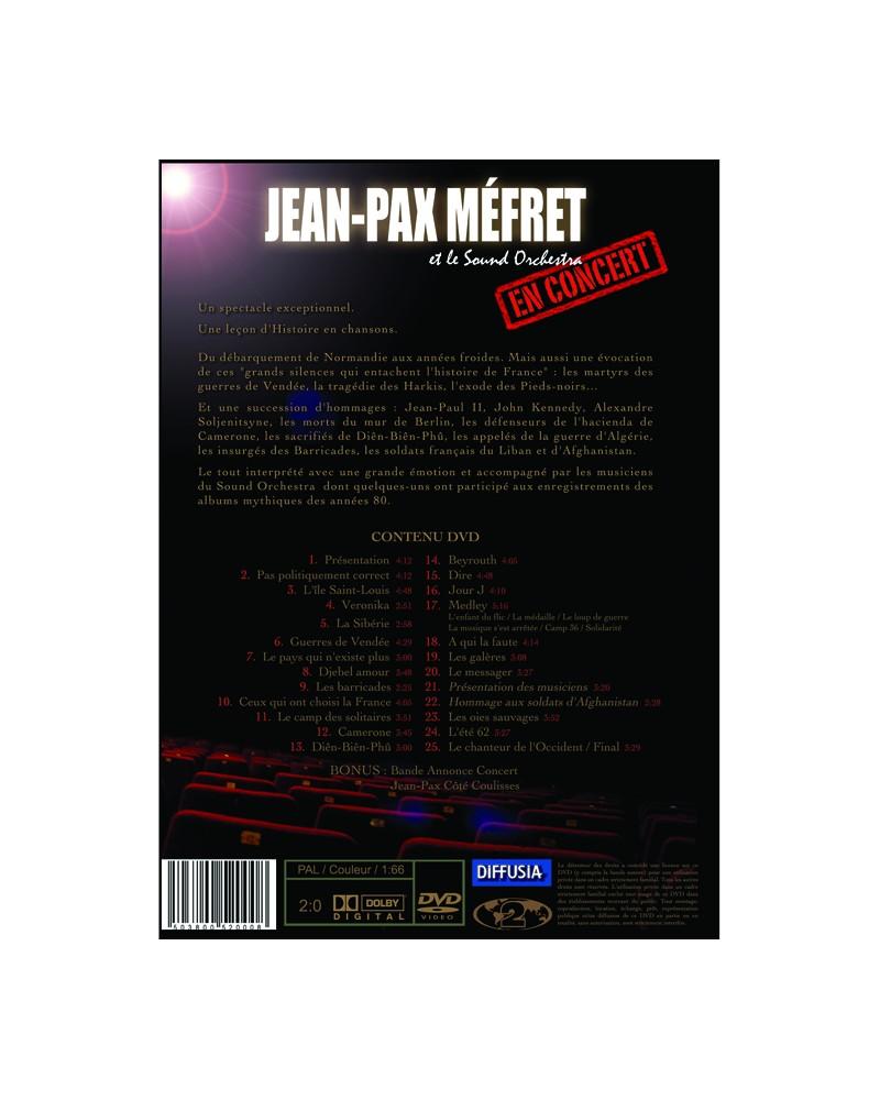 """DVD Concert Jean-Pax Méfret """"Des grands silences qui entachent l'histoire de France"""""""