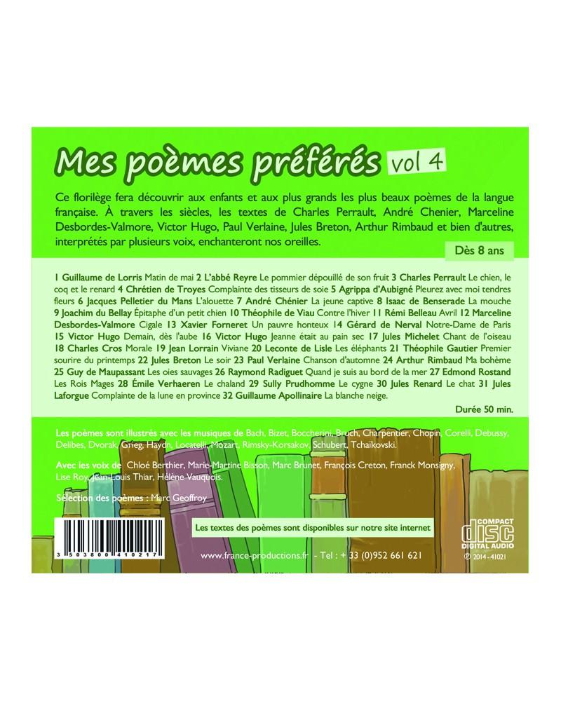 Mes poèmes préférés le lot de 5 CD
