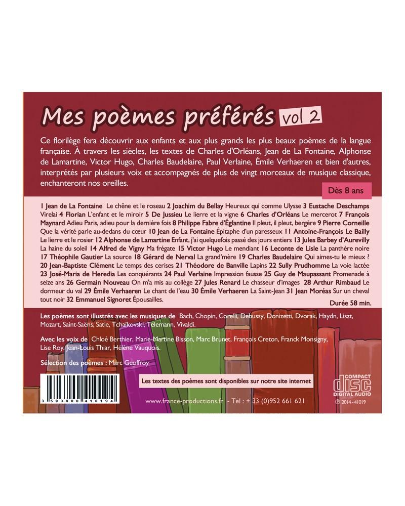 CD Mes poèmes préférés volume 2