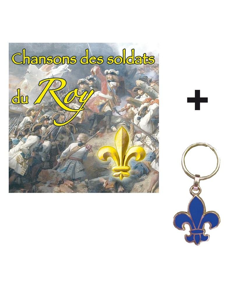 1 CD Chansons des soldats du Roy + Porte-clés Fleur de Lys