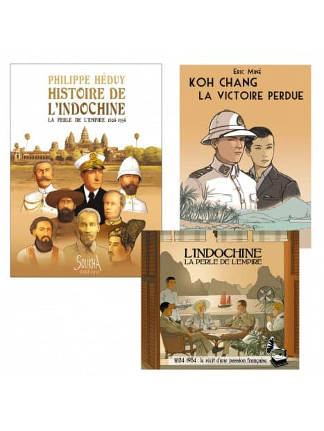 CD Indochine la perle de l'Empire + Koh Chang la victoire perdue + Histoire de l'Indochine