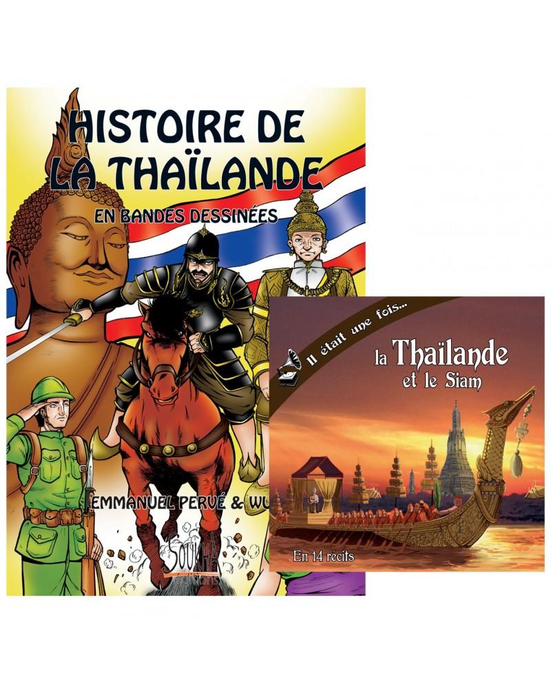 CD Il était une fois la Thaïlande et le Siam + BD Histoire de la Thaïlande