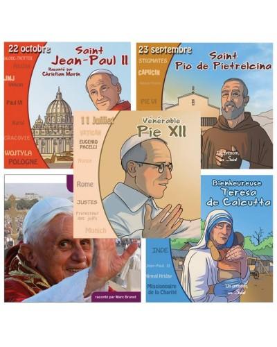 5 saints, bienheureux, vénérable et acteurs du 20e siècle en CD