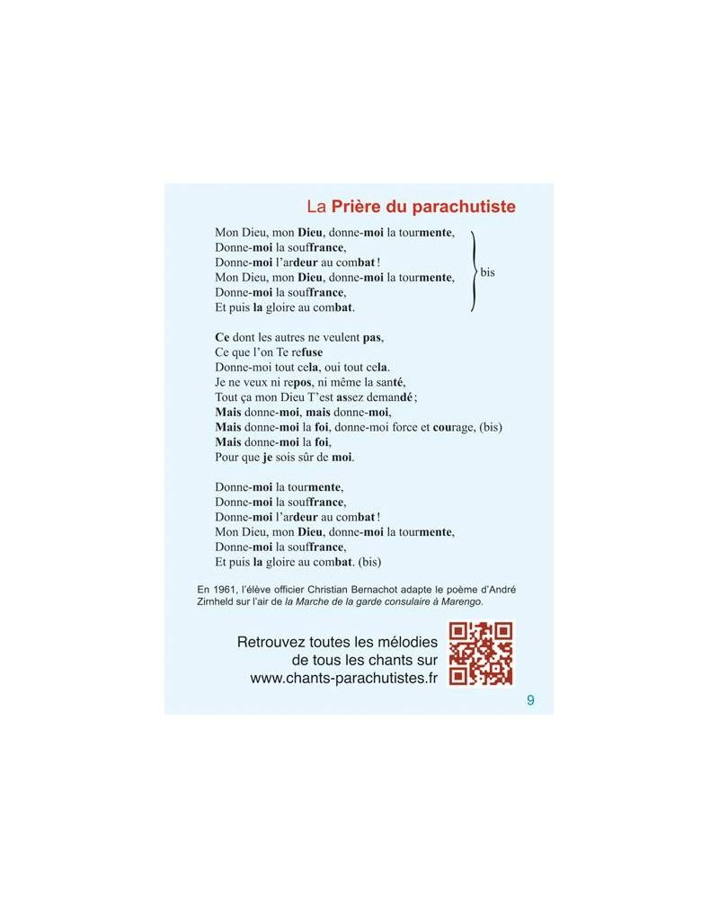 Carnet de chants des parachutistes page 9