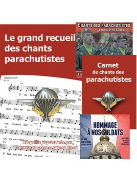 Parachutistes : Le grand recueil + Le carnet de chants + 2 CD