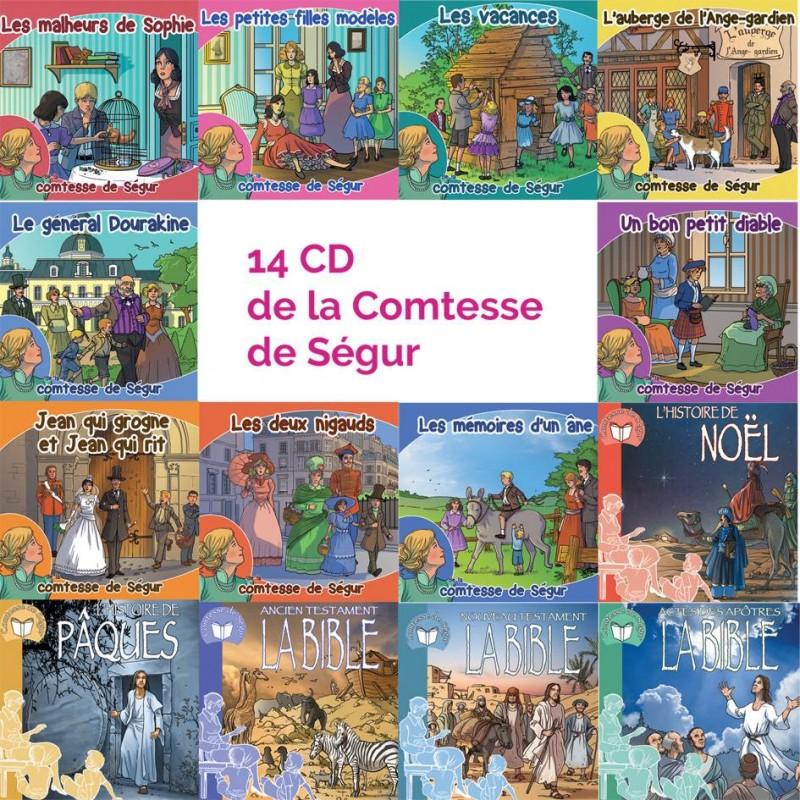 La collection complète des 14 CD de la comtesse de Ségur