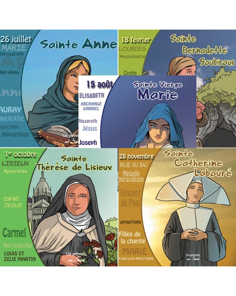 5 CD sur les saintes des sanctuaires de France