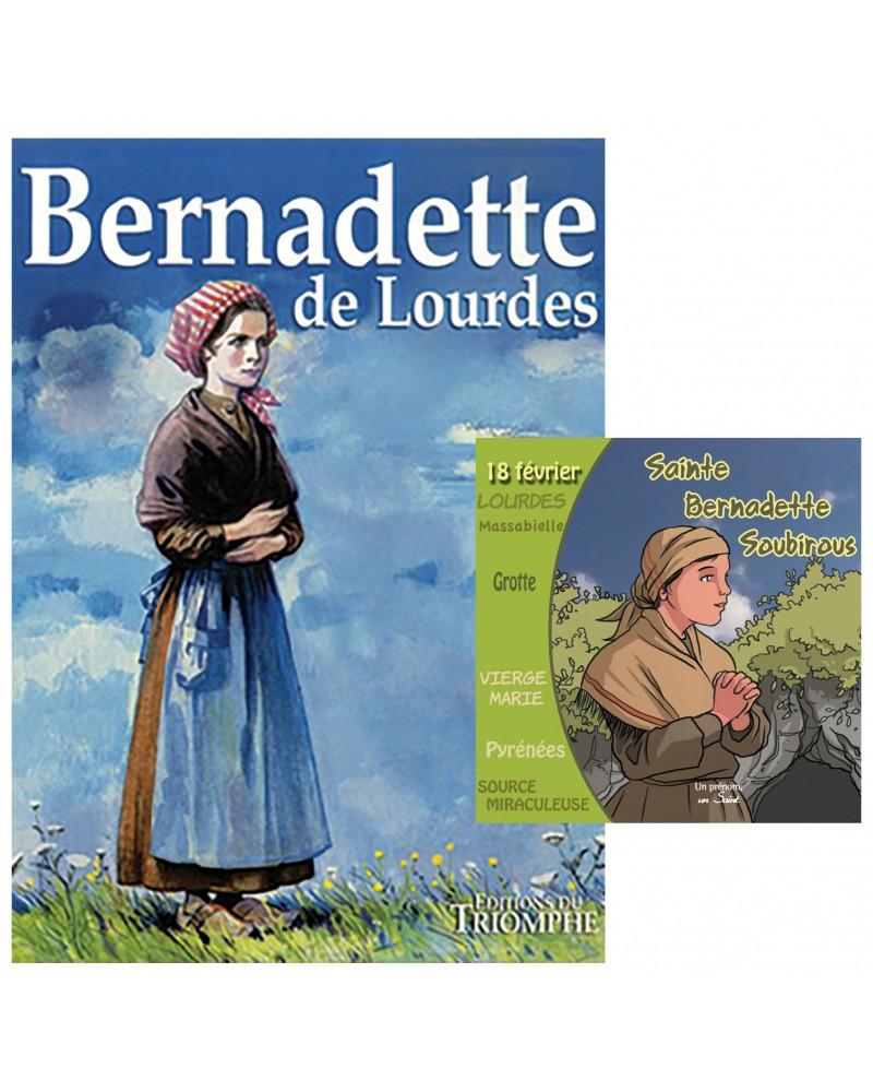 BD Bernadette de Lourdes + CD Sainte Bernadette Soubirous